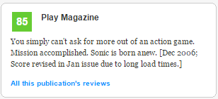 Sonic 2006 review